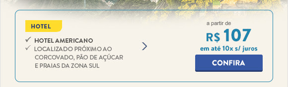 Hotel no Rio de Janeiro com diárias a partir de 107 reais.