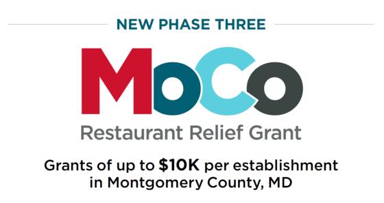 Moco Restaurant Relief Grant