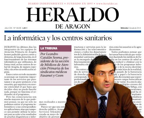 Artículo de Leandro Catalán  publicado en Heraldo de Aragón