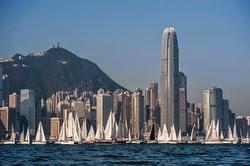Hong Kong J/80s sailing