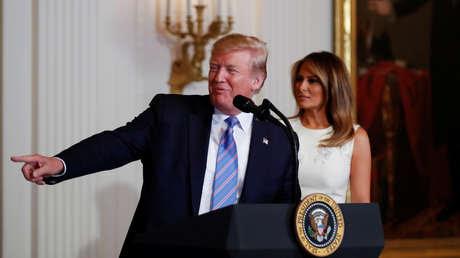 El presidente de EE.UU., Donald Trump, y la primera dama Melania Trump en Washington, 10 de mayo de 2019.