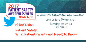 2017 Patient safety awareness week Twitter chat