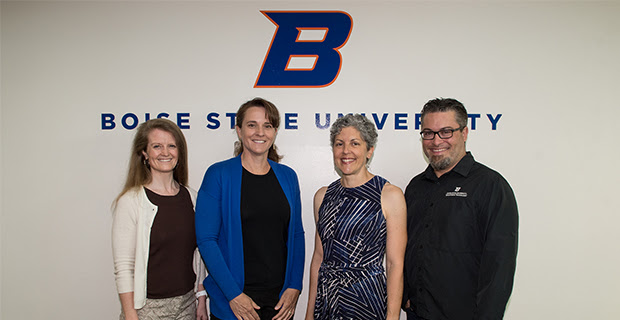 picture of math professor Laurie Cavey and colleagues