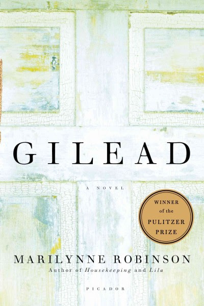 Book cover for Gilead by Marilynn Robinson: a worn door.
