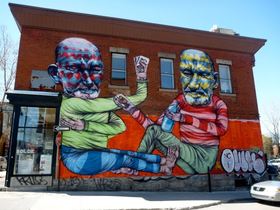 Wall Mural in the Plateau neighbourhood of Montreal.