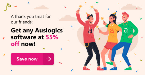 Auslogics Birthday Sale: 55% Off Coupon