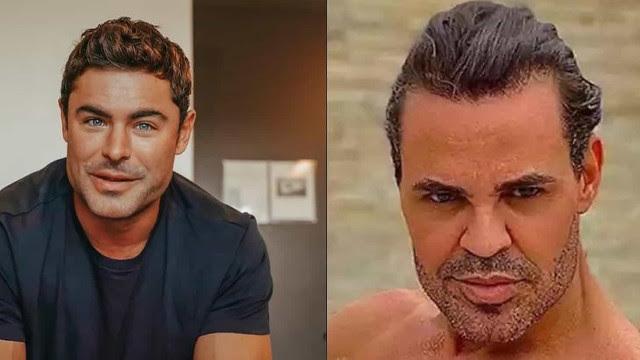 Zac Efron é comparado ao cantor Eduardo Costa por fãs brasileiros