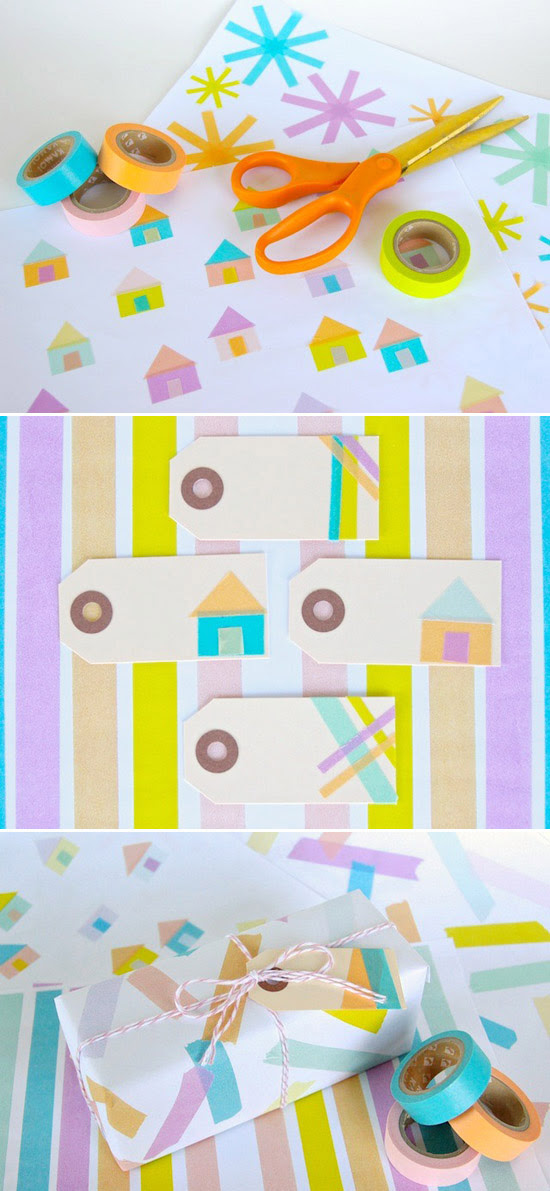 Make the most adorable gift wrap that ever existed.