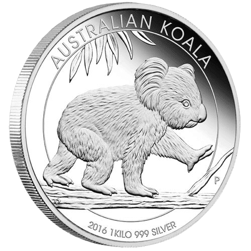 2016 Perth Mint 1 kg Silver Koala Coin