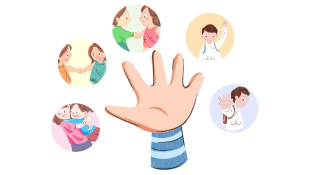 Image result for cartoon bàn tay