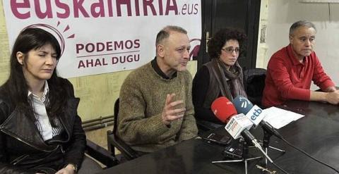 Roberto Uriarte, secretario general de Podemos Euskadi. /EFE