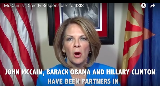 "Mega Bombshell: McCain, Obama, and Clinton Were ""Partners in Creating, Arming and Funding ISIS"" Says Senate Candidate"