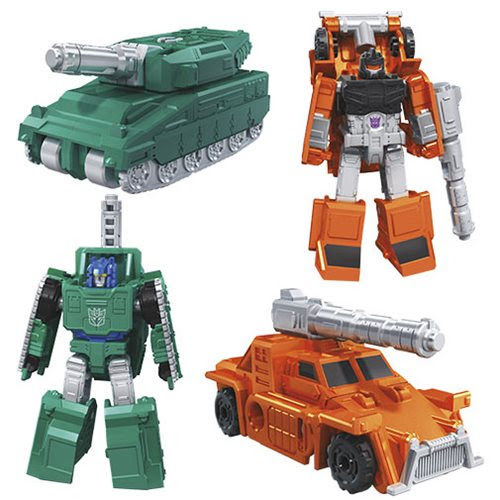 Image of Transformers Generations War for Cybertron: Earthrise Bombshock & Decepticon Growl Micromasters 2-Pack