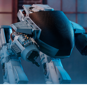 RoboCop (1987) ED-209 (Battle Damaged) 1:18 Scale PX Previews Exclusive Figure With Sound