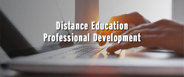 Distance education professional development