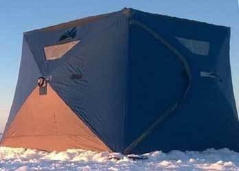 ice shelter black brown