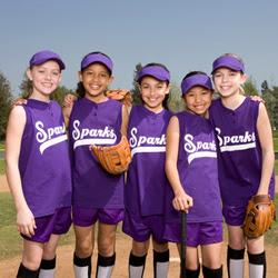 Photo: girls softball players