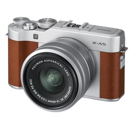 X-A5 24.2MP Mirrorless Digital Camera with XC 15-45mm f/3.5-5.6 OIS PZ Lens, Brown