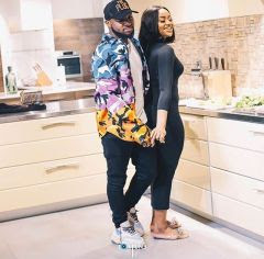 Davido is pictured in this still image from a video, giving Chioma a Valentine surprise. Photo: PMNews