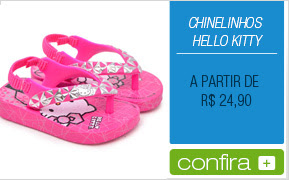 Chinelinhos Hello Kitty
