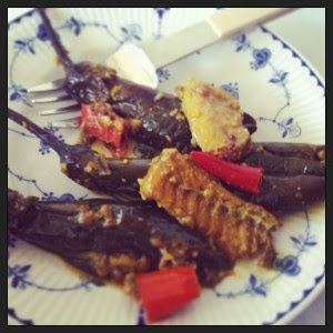 Aubergine Curry with Salt Fish