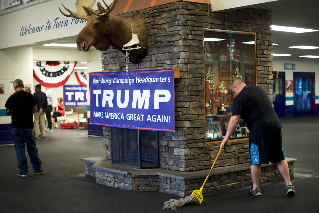 A campaign office for Donald J. Trump on Wednesday in Mechanicsburg, Pa.