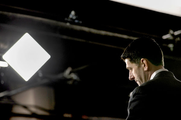 Speaker Paul D. Ryan at the Capitol this month. A report this week from the Congressional Budget Office compared the Republican health proposal with current law.