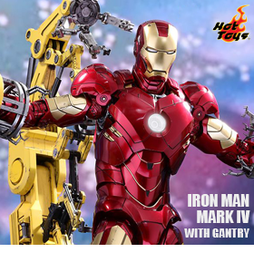 HOT TOYS IRON MAN MARK IV & GANTRY