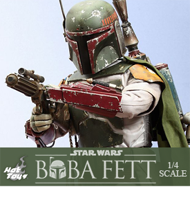 STAR WARS RETURN OF THE JEDI 1/4 SCALE BOBA FETT
