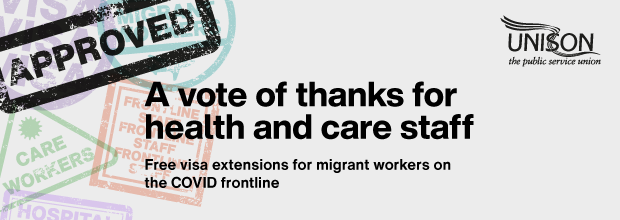 A vote of thanks for health and care staff