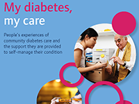 My diabetes, my care report cover