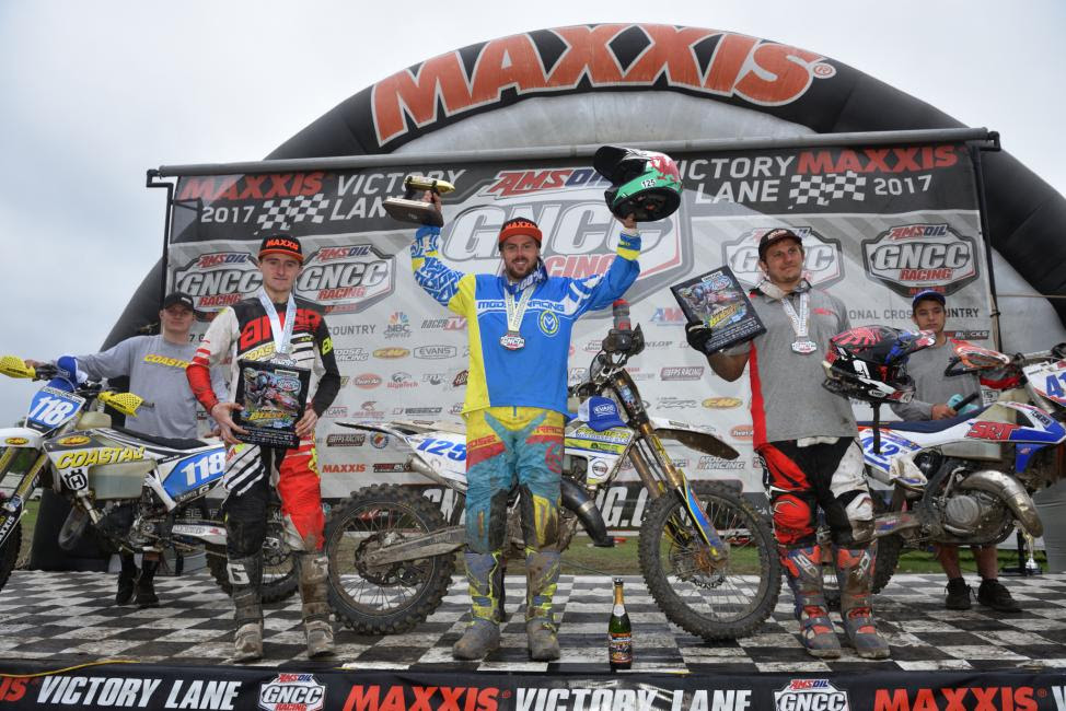 FMF XC3 125 Pro-Am Podium: (2) Jack Edmonston, (1) Jason Thomas, (3) Mark Heresco.
