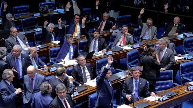 Sessão no Senado que aprovou a reforma trabalhista