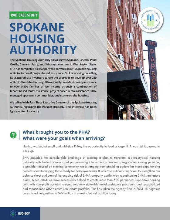 RAD Case Study Spokane Housing Authority Picture