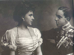 King Alphonse  XIII and his wife Eugenia of Battenberg