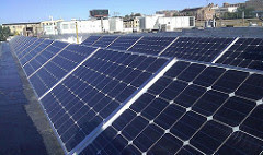 Rooftop PV installation on the Forest County Potawatomi Tribe administration building in Milwaukee, Wisconsin.