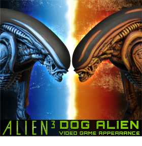 "ALIEN 3: 7"" DOG ALIEN VIDEO GAME APPEARANCE"