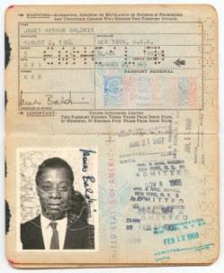 James Baldwin passport