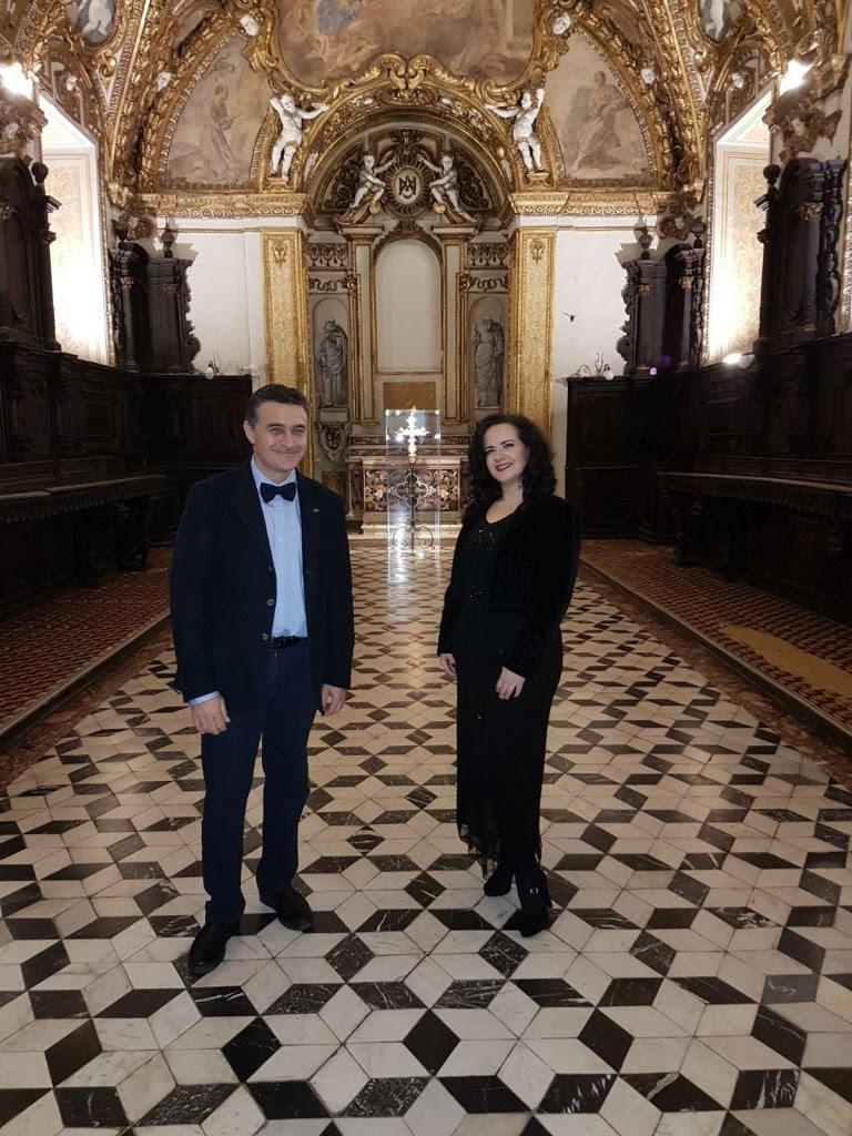 Il tenore Luca Lupoli ed il soprano Olga De Maio