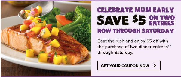 outback Outback: $5 Off 2 Entrees Coupon!