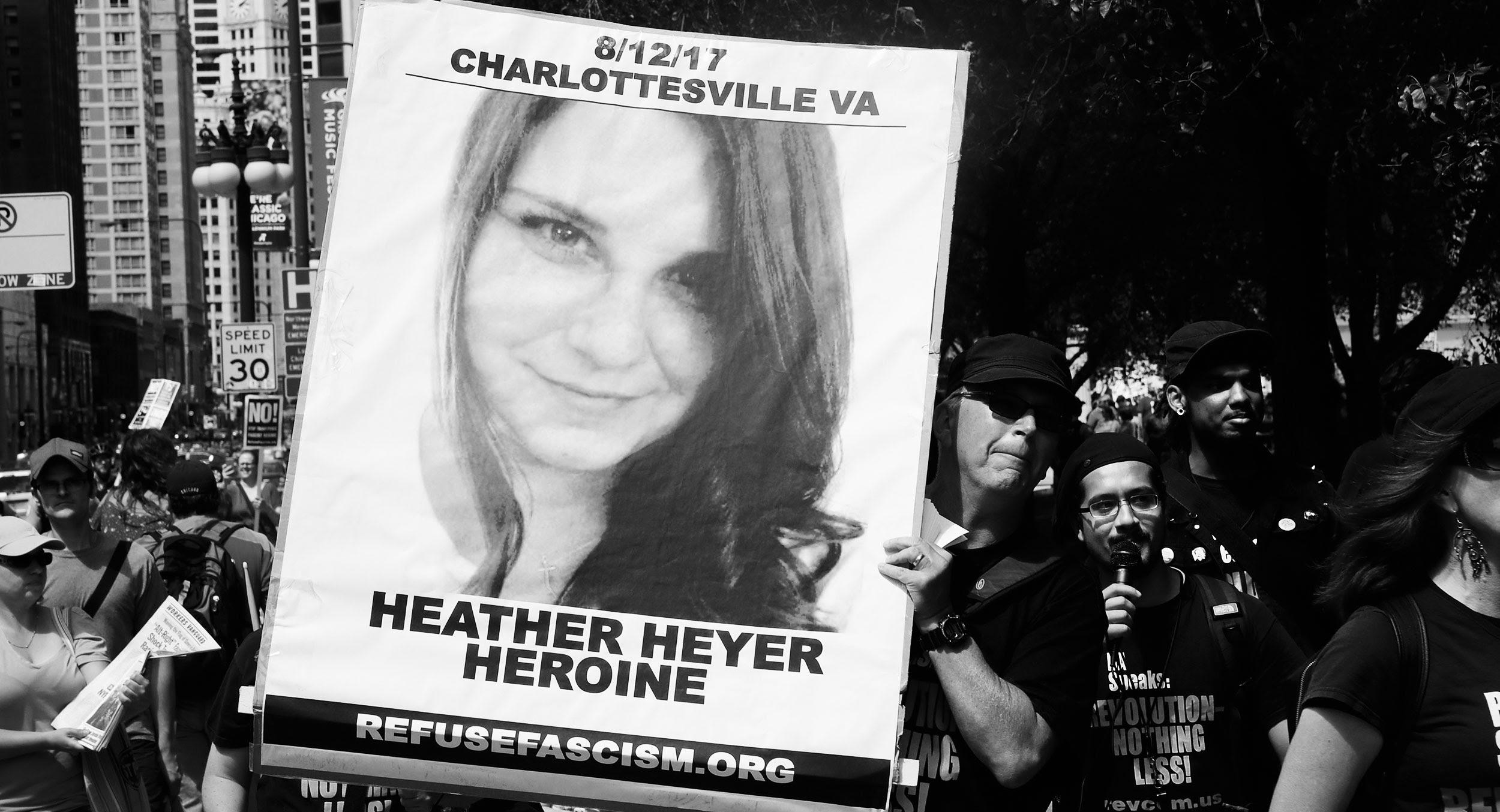 A memorialfor Heather Heyer. (Scott Olsen/Getty)