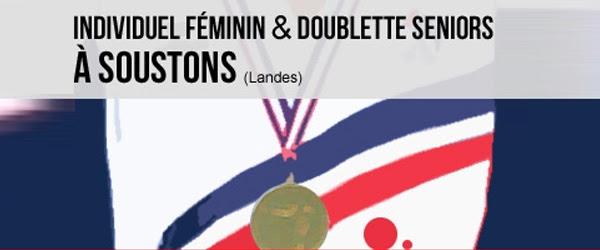 Individuel féminin et doublettes seniors à Soustons