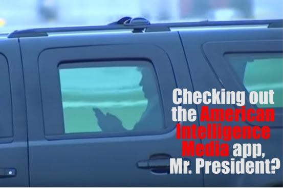 Trump checking AIM app