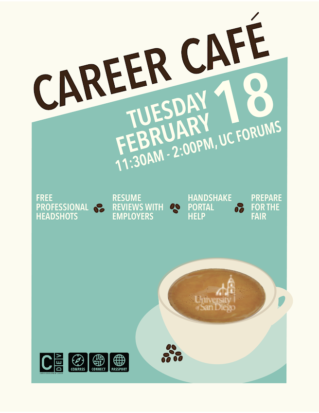 CDC Career Cafe, Tuesday Feb 18 at 11:30am-2:00pm in UC Forums