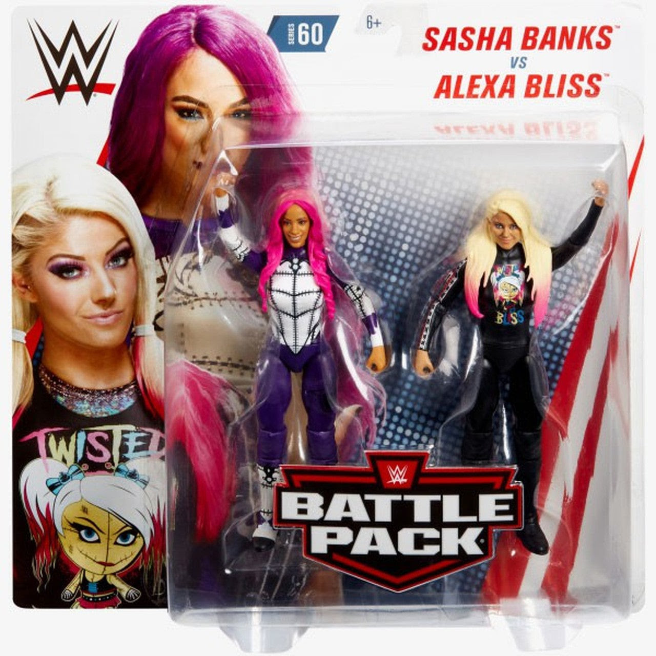 Image of WWE Battle Packs Series 60 - Sasha Banks & Alexa Bliss - AUGUST 2019