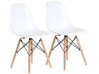 Jogo de Cadeiras Pé Palito Assento Branco Nell