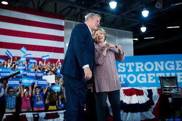 """<span data-macro=""""discretionary_hyphen"""" data-mce-contenteditable=""""false""""></span>Former Vice President Al Gore with Hillary Clinton last Tuesday at a rally in Miami, where climate change was a major topic."""