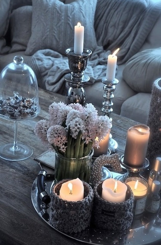 Christmas Winter Candle Decor32