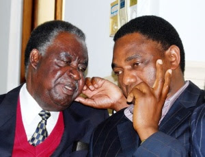 Michael Sata with Hakainde Hichilema