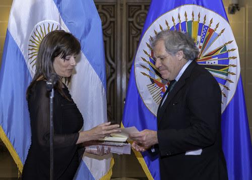 Nueva Representante de Argentina entregó sus cartas credenciales a Secretario General de la OEA